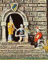 Prinz Eisenherz verteidigt ein Burgfräulein, Elastolin Katalog